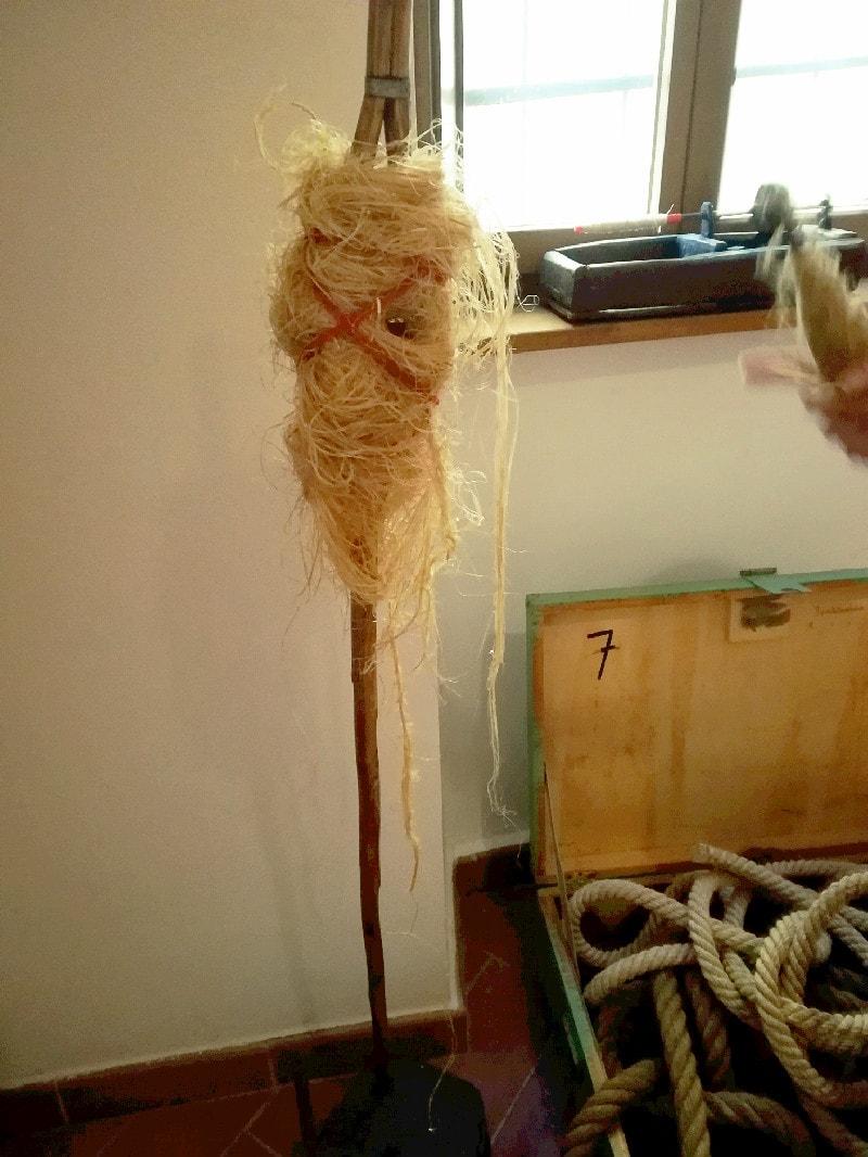 La matassa di Canapa prima della filatura.