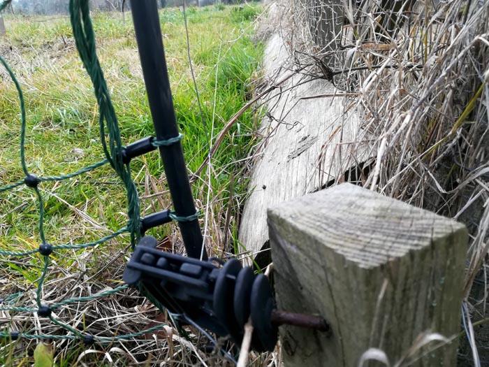 Veduta del filo di recinzione