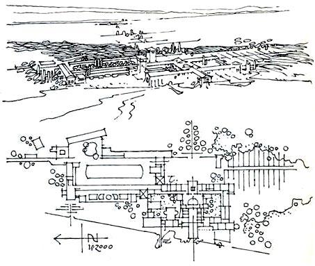 Una ipotetica ricostruzione della villa di Plinio.