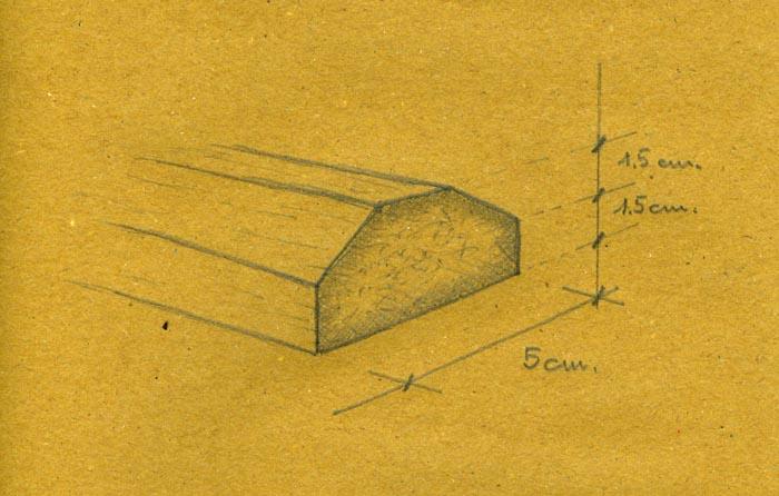 Il disegno della sezione del posatoio.