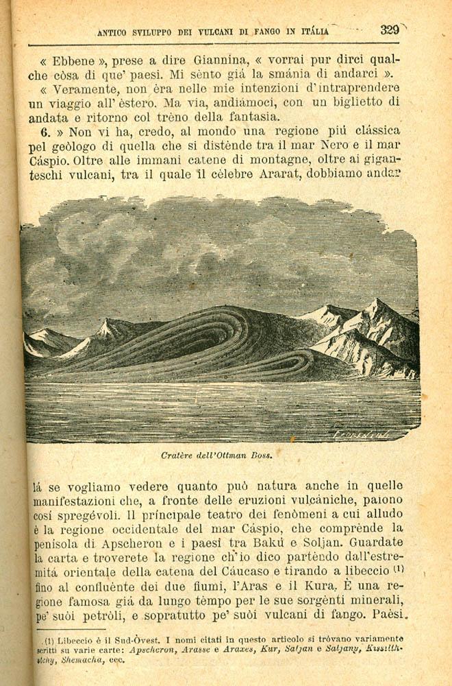 Una pagina del libro di Antonio Stoppani.